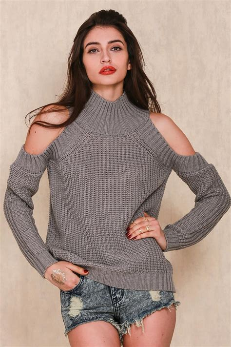 shoulder knit pullovers shoulder knit sweater on luulla