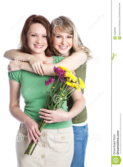 mother and daughter celebrating mother s day stock photo
