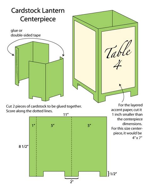 Paper Lantern Craft Template - diy wedding challenge paper lantern centerpieces
