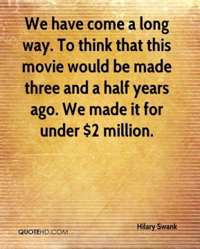 Half A Millionthat Is An Absolutely 2 by Hilary Swank Quotes Quotehd