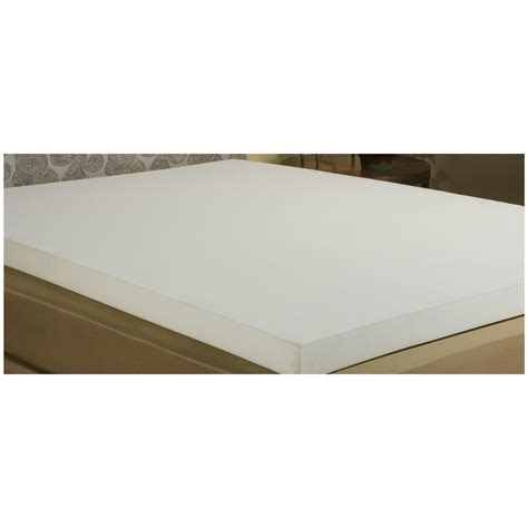 memory foam futon mattress topper adaptaflex 2 quot memory foam mattress topper 625844