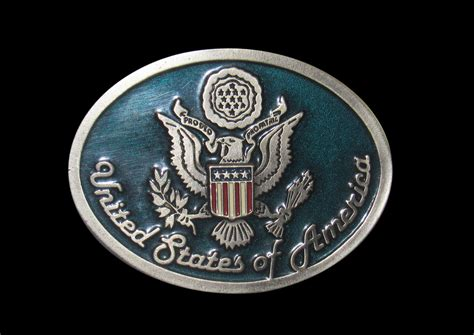 Quot U S Great Seal Quot Heavy Cast Epoxy Inlay Buckle Eb2240