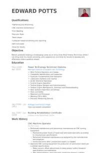 Machine Operator Resume Exles by Cnc Machine Operator Resume Sles Visualcv Resume Sles Database