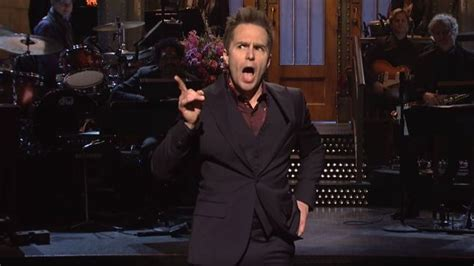 sam rockwell tv sam rockwell forgets he s on network tv on a middling snl