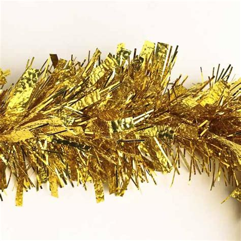 gold tinsel garland 6 feet sports and cheerleading