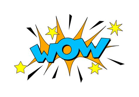 wow clipart wow sound blast effect illustration vector eps svg png
