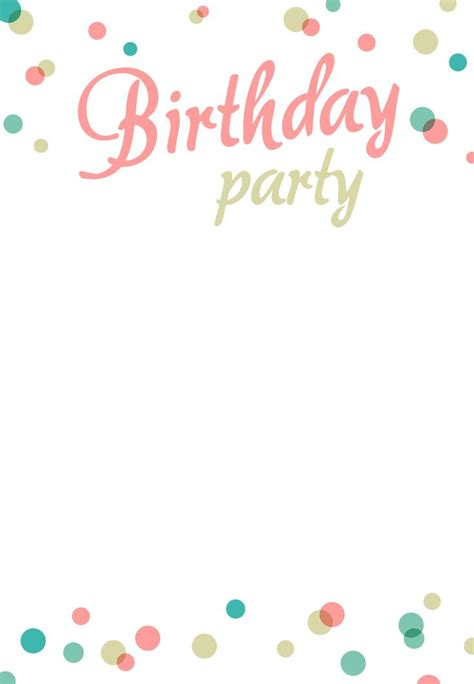 free birthday card invitation templates the 25 best free printable birthday invitations ideas on