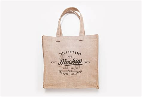 Totte Bag Maika Cafa Brown free jute and tote bag mockups graphicsfuel