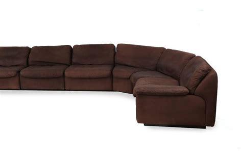 buffalo leather sofa de sede nine section buffalo leather sofa at 1stdibs
