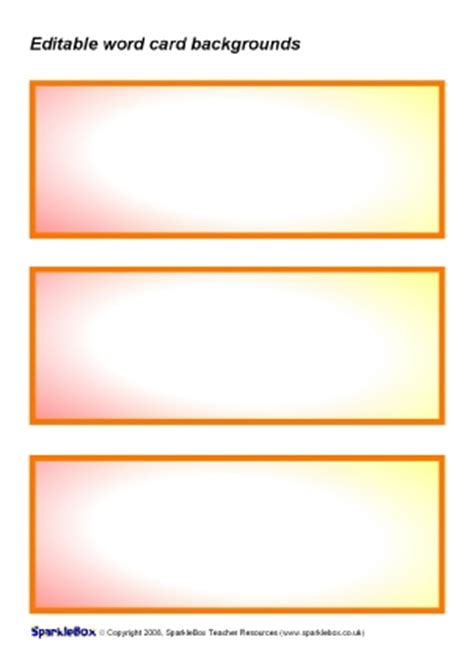 editable flash templates free editable primary classroom flash cards sparklebox