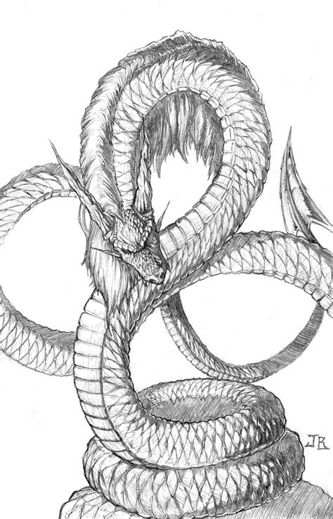 jormungandr wip by bodytriangle on deviantart