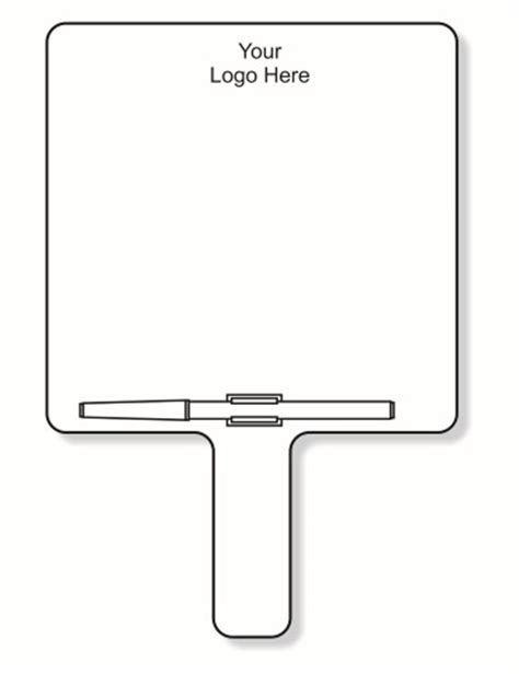 Whiteboards Auction Paddle Number Template