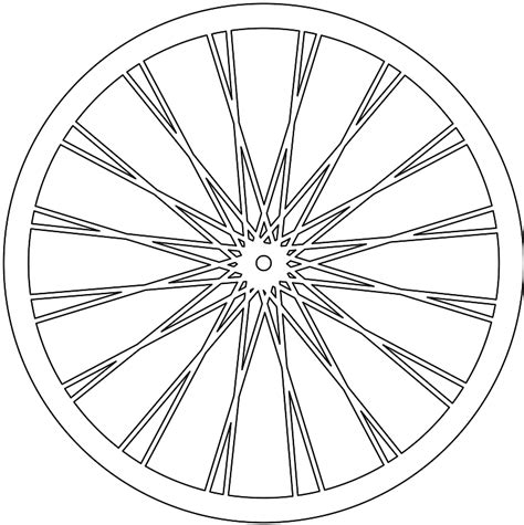Bicycle Wheel Outline by Silueta Rueda De Bicicleta Contorno Y Silueta Vector