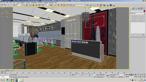 free salon layout software barber shop or beauty salon interior 3d model max