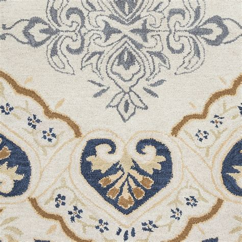 navy blue and beige area rugs valintino spades medallion wool area rug in gray navy beige blue 8 x 10