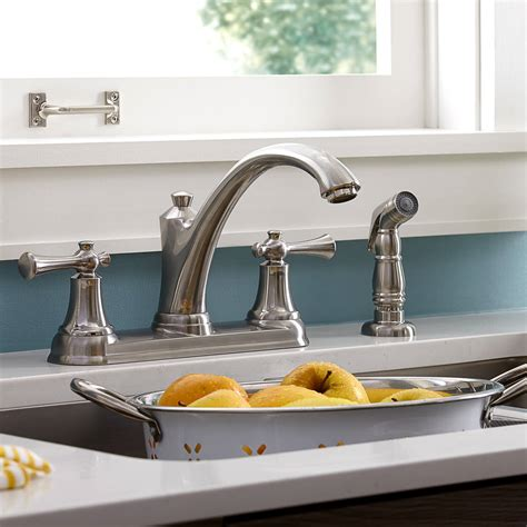 kitchen faucets  side sprayer american standard