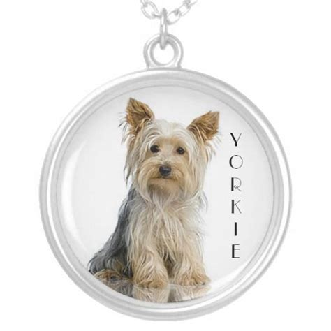 yorkie silver yorkie terrier silver pendant necklace breeds picture