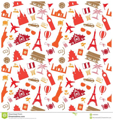 pattern travel background travel background pattern stock vector image 43859820