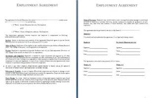 Employment Agreements Template by Employment Contract Sle
