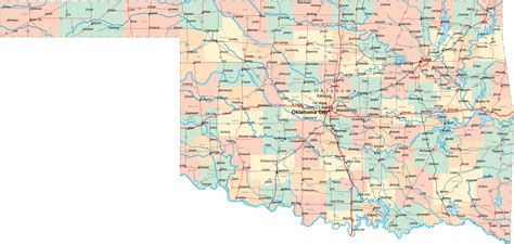 oklahoma state map printable map of map of cities and counties in oklahoma state map free printable maps atlas