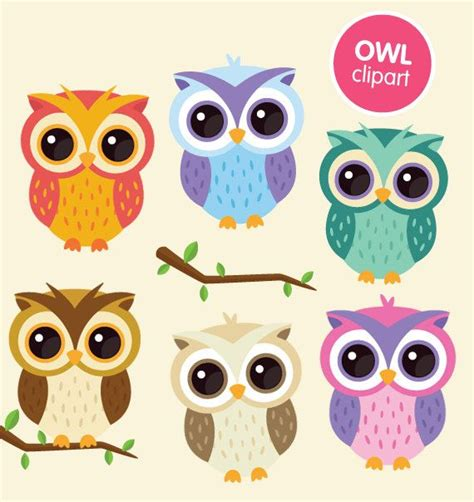 printable owl graphics owl clipart commercial use digital animal clip art by