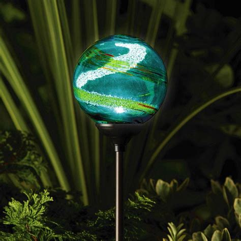 Solar Lights Uk Murano Solar Garden Globe Aqua