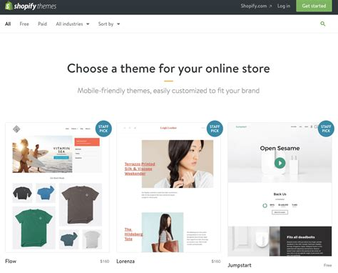 shopify themes 2016 recommended resources page