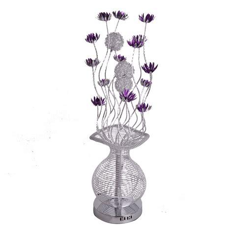 Flower Vase Floor L by Large Modern Aluminium Floor L Flower Vase Design Silver And Purple Light Ebay