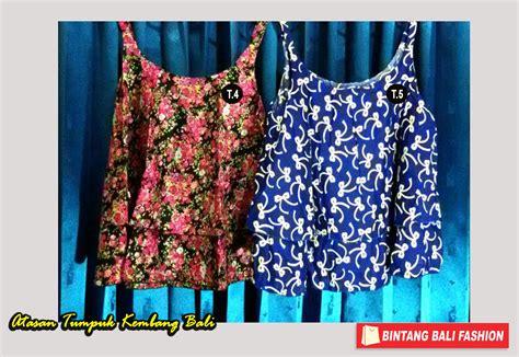 Baju Bali Atasan jual baju bali atasan tumpuk tali motif kembang bintang bali fashion
