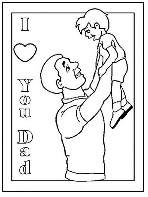coloring pages for fathers day happy fathers day coloring pages for the holiday family