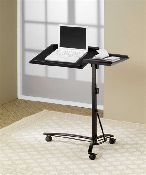 Laptop On A Desk 5 Mobile Stands For Laptops Accessories Lists