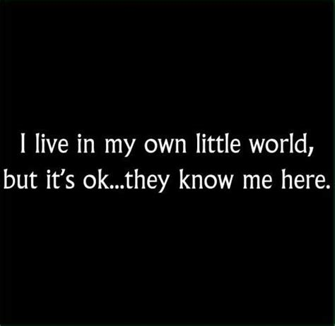 foreigner in my own world books quotes i live in my own world quotesgram