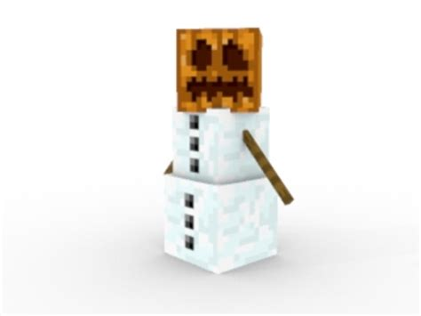 Minecraft Papercraft Snow Golem - mobs minecraft 101
