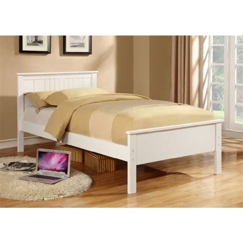 King Single Bed Frame Size Jessy King Single Size Wooden Bed Frame In White Buy Single Beds