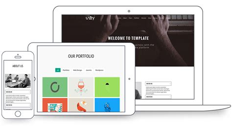 unity responsive layout unity responsive one page joomla template themexpert