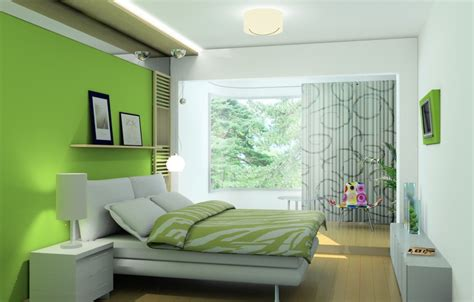 Classic green bedroom interior design rendering   3D house, Free 3D house pictures and wallpaper