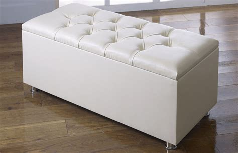 cream ottoman storage bed new ottoman storage blanket box in faux leather
