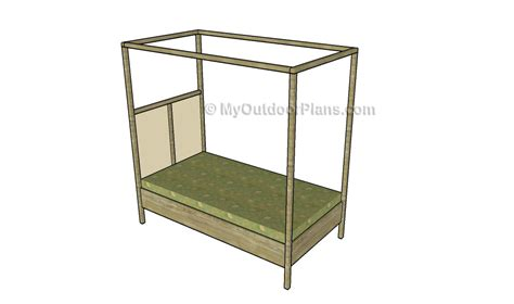 canopy bed plans wood canopy plans images