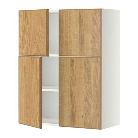 Metod Wall Cabinet With Shelves 4 Doors White Hyttan Cabinets Doors And More