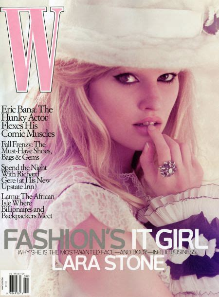 More Fashion Photography In W Magazine August 07 Issue by Lara By Steven Klein In W Magazine August 09