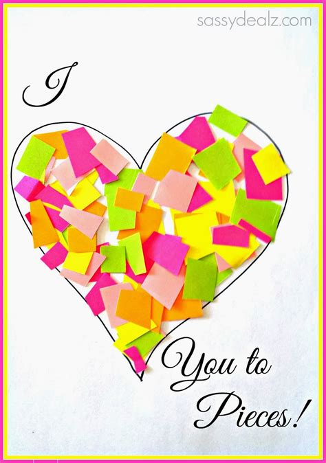i you to pieces s day card template quot i you to pieces quot craft for