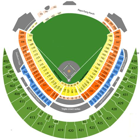kauffman stadium  seating chart event schedule