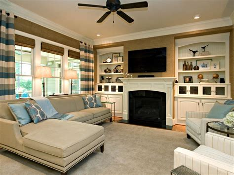 family room decor ideas classic simple family room rebecca driggs hgtv