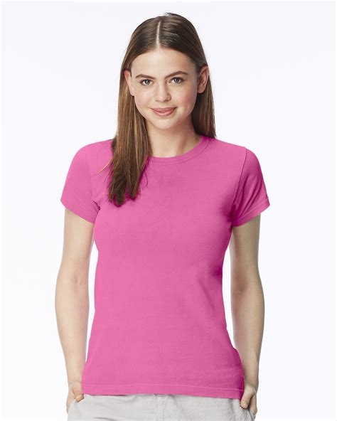 lady comfort colors pigment dyed ringspun women s short sleeve t shirt