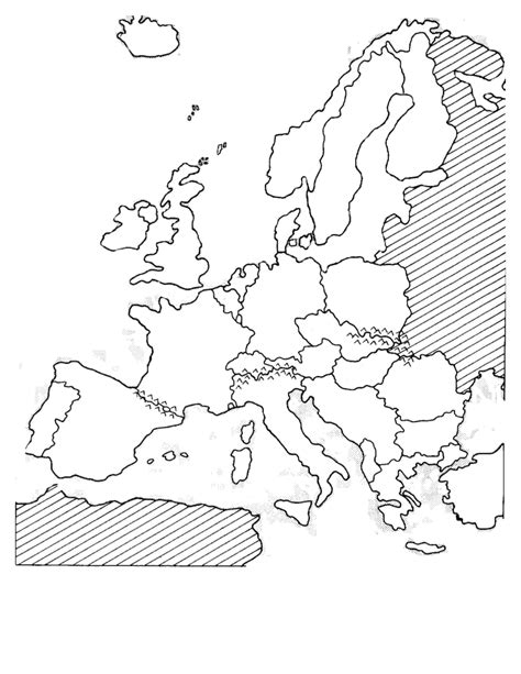 Europe 1500 Outline Map by Blank Political Western Europe Map Sketch Coloring Page