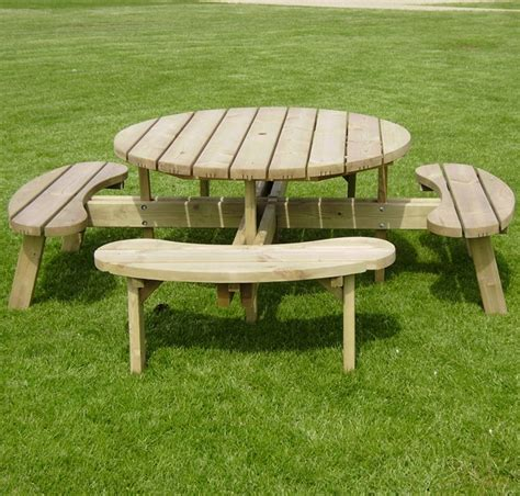round wooden bench 24 picnic table designs plans and ideas