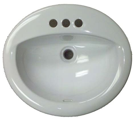 Mobile Home Sink 17 quot x 20 quot oval white ceramic sink for mobile home