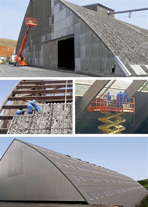 toiture de hangar d 233 samiantage toiture et bardage d un hangar de stockage