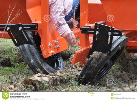 Tree Seedling Planter by Mechanical Tree Planter Stock Photo Image 53769355