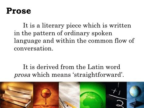 exle of prose prose and poetry